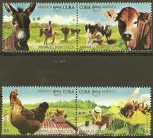 CUBA 2018 FAUNA Animals UPAEP - Fine Set MNH - Unused Stamps