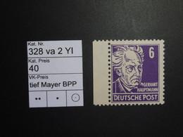 DDR ** 328 Va 2 YI Tief  Mayer BPP - Ungebraucht