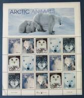 USA, Bloc 15 Timbres Neufs Arctic Animals, 1999 - Ungebraucht