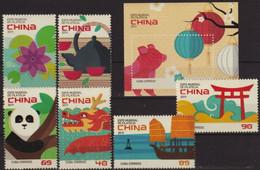CUBA 2019 FAUNA Expo China - Fine Set + S/S MNH - Unused Stamps