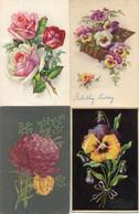 8 Oude Kaarten Bloemen In Vaas / Korf / Boeket - Old Flower Cards - Vieux Cartes Avec Fleurs                  FLOW2 - Flowers