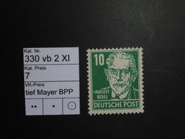 DDR ** 330 Vb 2 XI Tief  Mayer BPP - Ungebraucht