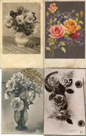 8 Oude Kaarten Bloemen In Vaas / Korf / Boeket - Old Flower Cards - Vieux Cartes Avec Fleurs                  FLOW3 - Flowers