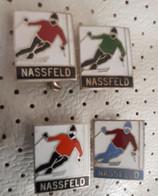 Skiers Ski Center NASSFELD  Skiing Ski Resort Vintage AUSTRIA Enamel Pins - Winter Sports
