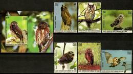 CUBA 2019 FAUNA Animals. Night Birds Of Prey OWLS - Fine Set + S/S MNH - Unused Stamps