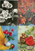 8 Oude Kaarten Bloemen In Vaas / Korf / Boeket - Old Flower Cards - Vieux Cartes Avec Fleurs                  FLOW4 - Flowers