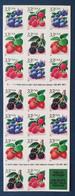 USA, Bloc 20 Timbres Neufs , Baies De Fruits, 1999 - Ungebraucht