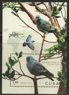 CUBA 2020 FAUNA Animals. Birds PIGEONS - Fine S/S MNH - Unused Stamps