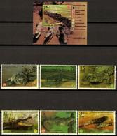 CUBA 2020 FAUNA Animals. Reptiles CROCODILES - Fine Set + S/S MNH - Unused Stamps