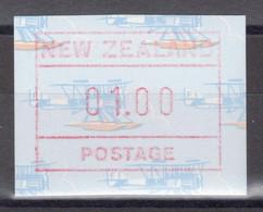 """Nouvelle-Zélande - Timbre De Distributeurs - Modèle """"hydravion"""" - 1 D. ** MNH - 1990 - Unused Stamps"""