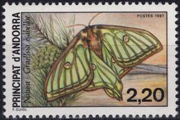 ANDORRE Principat D'ANDORRA 361 ** MNH Papillon Vlier Butterfly Schmetterling 1987 - Ungebraucht