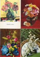 8 Oude Kaarten Bloemen In Vaas / Korf / Boeket - Old Flower Cards - Vieux Cartes Avec Fleurs                  FLOW5 - Flowers