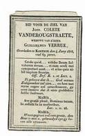KORTRIJK - Colette VANDEROUGSTRAETE - Wwe G. VERRUE  +1828 - Devotion Images