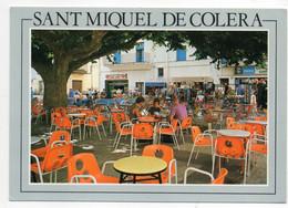 CPM    COSTA BRAVA    SANT MIQUEL DE COLERA   -    PLAZA MAYOR    -    CAFE EN TERRASSE - Gerona