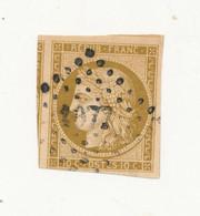 FRANCE 1850 Cérès 10 Cts Bistre Brun YT N°1a Oblitéré PC Signé R Calves - Cote 300E - 1849-1850 Ceres