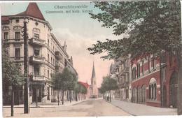 BERLIN Ober Schöneweide Siemensstraße Katholische Kirche Kneipe Berliner Kindl TOP-Erhaltung Feldpost 22.8.1917 - Schoeneweide