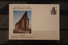Deutschland, Ganzsache Wertstempel Sehenswürdigkeiten: Chilehaus Hamburg - Private Postcards - Mint