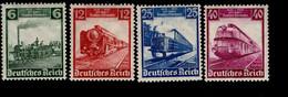 Deutsches Reich 580 - 583 Eisenbahn MLH * Falz - Unused Stamps