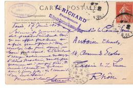 Cachet Club Alpin Francais Commission Des Caravanes Scolaires Professeur Richard PARIS Clermont En Argonne - 1877-1920: Semi Modern Period