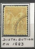 France - Type Sage - Obl. Bureaux De TURQUIE - N°92 - PORT-LAGOS - 1877-1920: Semi Modern Period