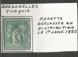 France - Type Sage - Obl. Bureaux De TURQUIE - N°75 - DARDANELLES - 1877-1920: Semi Modern Period