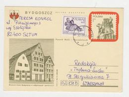 Poland 1980s Uprated Postal Stationery Card PSC Used Domestic (1965) - Postcards