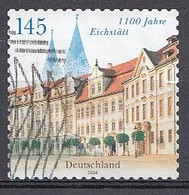 Bund  2008  Mi.nr.: 2643  1100.Jahre Eichstätt   Gestempelt / Oblitérés / Used - Used Stamps