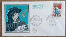 FDC 1965 - YT N°1445 - CHARLES D'ORLEANS - PARIS - 1960-1969