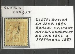 France - Type Sage - Obl. Bureaux De TURQUIE - N°92 - RHODES - 1877-1920: Semi Modern Period