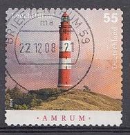 Bund  2008  Mi.nr.: 2683  Leuchttürme   Gestempelt / Oblitérés / Used - Used Stamps