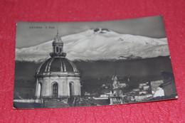 Catania L' Etnea 1927 Rppc + Timbro Ambulante Messina Napoli - Catania