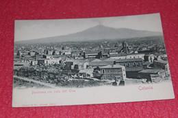 Catania Panorama E L' Etnea Ed. Stengel NV Primi 1900 - Catania