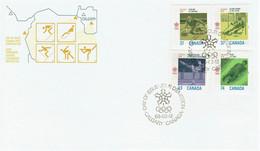 Kanada / Canada - Mi-Nr 1075/1078 FDC (h431) - Invierno 1988: Calgary
