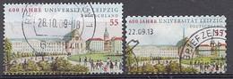 Bund  2009  Mi.nr.: 2745+2747  Universität Leipzig   Gestempelt / Oblitérés / Used - Used Stamps