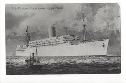 29089 - P.& O, RMS Strathmore 23.500 Tons + Cachet Paquebot Posted At Sea - Dampfer