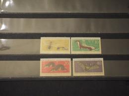 GERMANIA - DDR - 1962 FAUNA 4 VALORI - NUOVI(++) - Ungebraucht