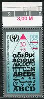 A07-17-1) DDR - Mi 3353 Oberrand ✶✶ (B) - 30+5Pf  Jahr Der Alphabetisierung - Ungebraucht