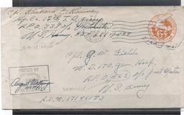 ETATS - UNIS - COURRIER Militaire25 MAR 1945 - APO 339 (Q G IX ARMEE)-POUR A P O 562 ( Deauville)-Cachet Rectangulaire D - Lettres & Documents