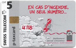 Switzerland - Swisscom (Chip) - Privates - STPC-AS-002 - Etablissement Cantonal, 02.1997, 5Fr, Mint - Schweiz