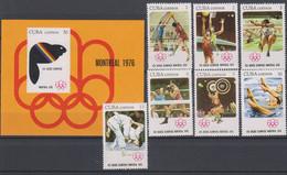 Olympics 1976 - Judo - CUBA - S/S+Set MNH - Verano 1976: Montréal