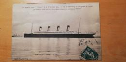 Le Paquebot Geant Titanic De La White Star Line En Rade De Cherbourg Le Plus Grand Du Monde Qui Vient De Couler Près De - Dampfer