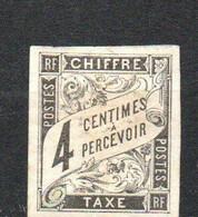 Col24 Colonies Générales Taxe N° 4 Oblitéré Cote 5,00 Euro - Portomarken