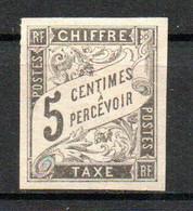 Col24 Colonies Générales Taxe N° 4 Neuf X MH Cote 8,00 Euro - Portomarken