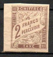 Col24 Colonies Générales Taxe N° 16 Neuf X MH Cote 55,00 Euro - Portomarken