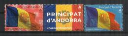 Drapeau D'Andorre. Bandera De Andorra.  3 Val. Neufs ** - Ungebraucht