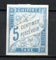 Col24 Colonies Générales Taxe N° 18 Neuf (X) No Gum Cote 1,75 Euro - Portomarken