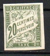 Col24 Colonies Générales Taxe N° 21 Neuf (X) No Gum Cote 2,25 Euro - Portomarken