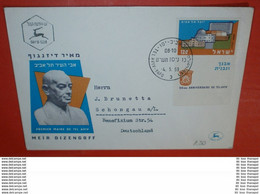 ISRAEL Mit Tab 177 Rand - Tel Aviv 50 Jahre  -- FDC Cover Brief (2 Foto)(136271) - FDC