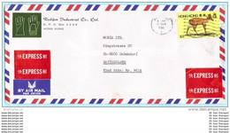 HONGKONG - EXPRESS Brief Cover Lettre FIRMA - 387 Chin. Muntjak Tiere (2 Scan)(29812) - Briefe U. Dokumente