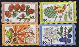GERMANY BERLIN [1979] MiNr 0607-10 ( **/mnh ) Pflanzen - Ungebraucht